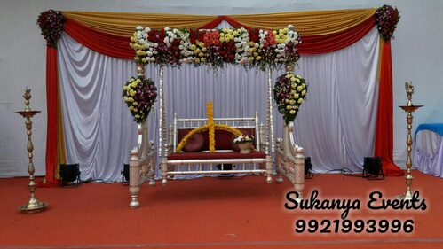 Dohale Jevan White Theme Decoration