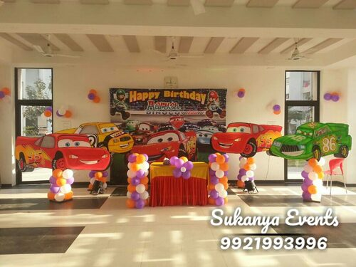 Dancing Cars Theme Birthday party Decorations in Pune City