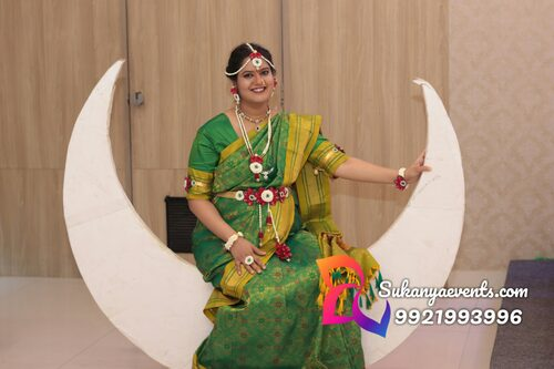 Dohale Jevan Decoration Chandra | Baby Shower Decoration Moon