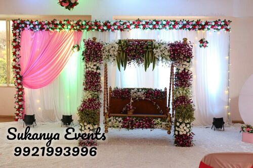 Dohale Jevan Decoration | Baby Shower, Naming Ceremony, Birthday ...