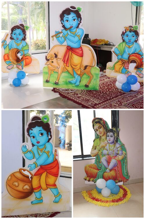 Krishna Theme Cut Out For Baby Shower  Dohale Jevan
