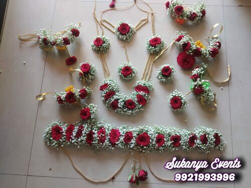 Flower Jewellery For Dohale Jevan And Baby Shower Set 37