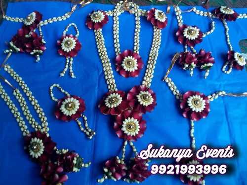 Real Flower Jewellery For Dohale Jevan Set